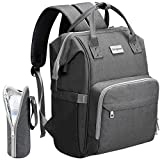 Diaper Bag Backpack, COSYLAND Mom Travel Backpack Nappy Bags Large Capacity Maternity Bag with USB Charge Port Stroller Strap Wide Shoulder Strap Insulated Pockets Baby Shower Gift (Grey)