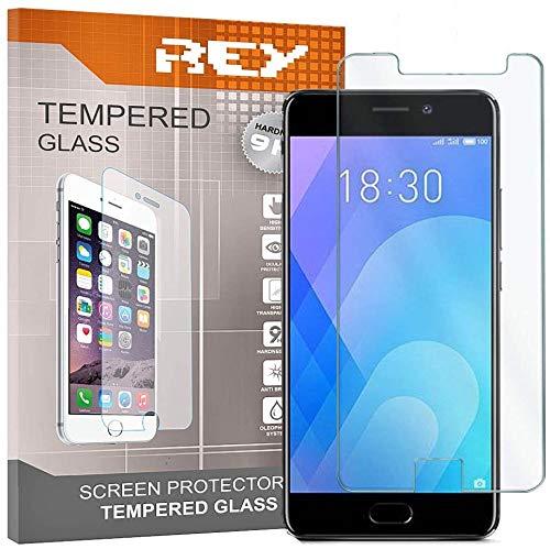 REY 3X Protector de Pantalla para MEIZU M6 Note/MEILAN 6 Note, Cristal Vidrio Templado Premium