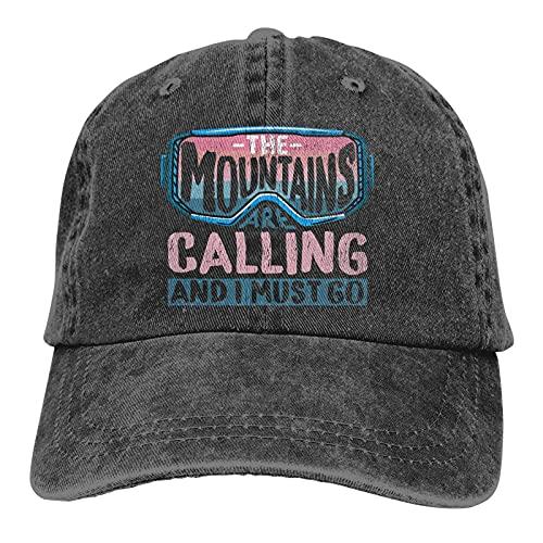 The Mountains are Calling and I Must Go 4 - Gorra de béisbol clásica, gorra de vaquero ajustable, gorra de camionero para papá