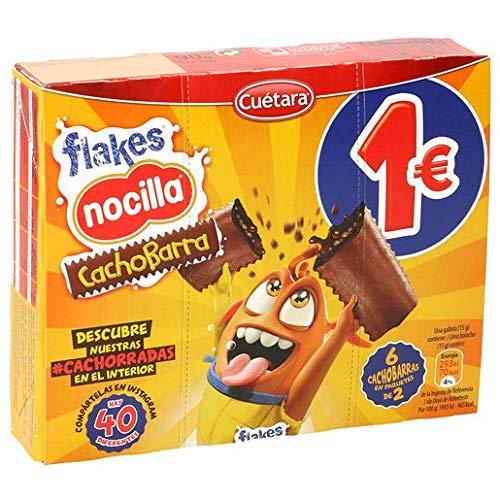 CUETARA Flakes galletas rellenas de nocilla caja 90 gr