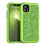 iPhone 11 Pro Max Case, Dooge Luxury Sparkle Bling Shiny Case Three Layer Full-Body Hybrid Sturdy Armor Heavy Duty Shockproof Protective Case Cover for Apple iPhone 11 Pro Max 6.5inch 2019