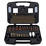 BOOSTEADY Gun Cleaning Kit Universal Gun Cleaning Kit Handgun Shotgun Rifle Cleaning Kit with Range Size Deluxe Portable Case for .17 .22 .243 .270 .30 .357 .40 .45 Cal 12GA 20GA