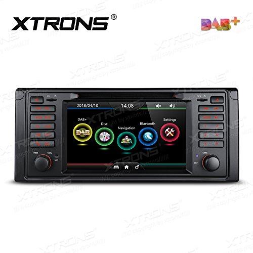 XTRONS - Pantalla táctil digital HD de 7 pulgadas con doble canbus para coche, reproductor de DVD, función de espejo, DAB+ Kudos Mapa integrado para BMW E39