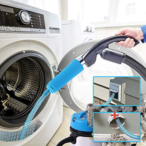Lint Remover Vacuum Hose Attachment Brush Dryer Vent Cleaner Kit Grey Holikme Dryer Lint Vac Attachment