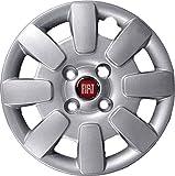1x tapacubos de rueda 9185 de 13pulgadas. Logo rojo del Fiat Panda 2008en adelante. Producto no original. Una unidad