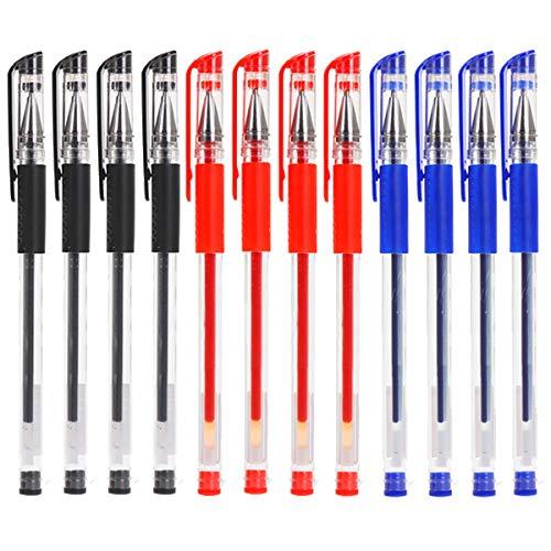 36PCS Bolígrafo de Tinta de Gel 0.5mm Bolígrafos Secado Rapido Bolígrafo de Bola Negro Azul Rojo Pluma de Escribir para Utiles Escolares Artículos de Papelería
