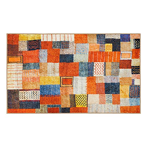 My Magic Carpet Machine Washable Accent Rug Patchwork Multicolor 3X5