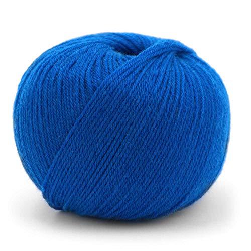 50 g Pascuali Merino Baby | 100% Schurwolle (Merino Superfine, Mulesing frei) Superwash, Farbe:blau 18