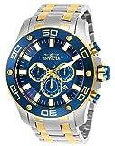 Invicta Men's Pro Diver Scuba Quartz Watch with Stainless Steel Strap, Two Tone