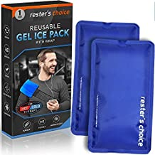 Gel Cold & Hot Packs (2 Ice Packs) 5x10 in with 1 Adjustable Wrap. Reusable Warm or Ice Packs for Injuries, Hip, Shoulder, Knee, Back Pain – Hot & Cold Compress for Swelling, Bruises, Surgery