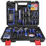LETTON Maletín de herramientas de 37 piezas, kit de herramientas para reparación del hogar, con caja de almacenamiento