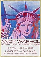 ポスター アンディ ウォーホル 10 Statues of Liberty 1986 額装品 アルミ製ベーシックフレーム(ゴールド)