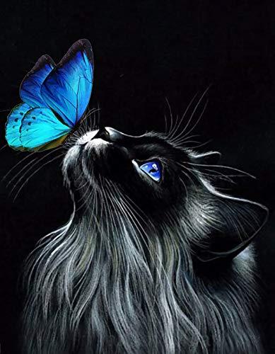Bougimal 5D Diamant Painting Bilder Katze, DIY Diamant Malerei Full Erwachsene für Wall Decoration Geschenk,40X50cm