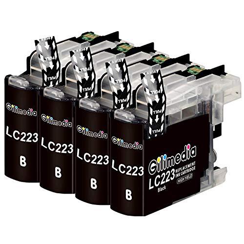 Gilimedia LC223XL - Cartuchos de tinta de repuesto para Brother LC223 para Brother DCP-J562DW J4120DW MFC-J5320DW J880DW J5620DW J5625DW J680DW J4625DW J5720DW J4420DW J4620DW J480DW (4BK)