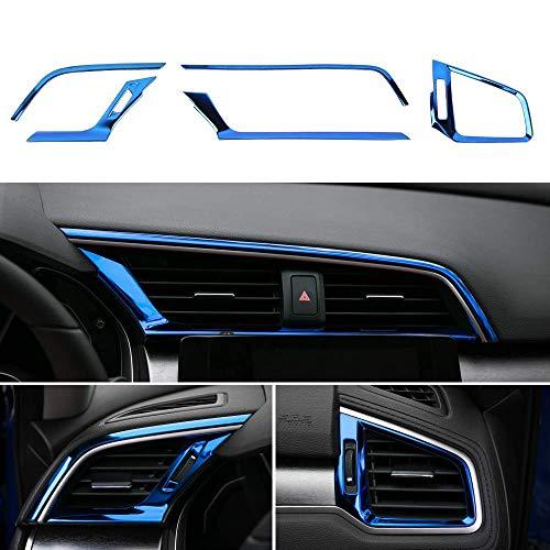 Apto para 2016-2019 Honda Civic,C3 instalaci/ón de nido de abeja Dise/ño no destructiva Coche delantero de la parrilla de reemplazo