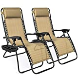 Best Choice Products Set of 2 Adjustable Zero Gravity Lounge Chair Recliners for Patio, Pool w/Cup Holders - (Color)
