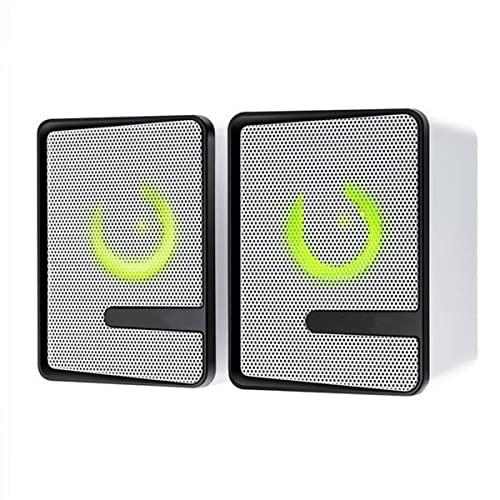 TYGH Altavoces PC,Altavoz PC Gaming,USB 2.0 Sonido Estéreo LED RGB Mejorado para Escritorio Móvil,Casa,Viaje,Oficina,Fiesta,Ordenador Portátil,Regalo