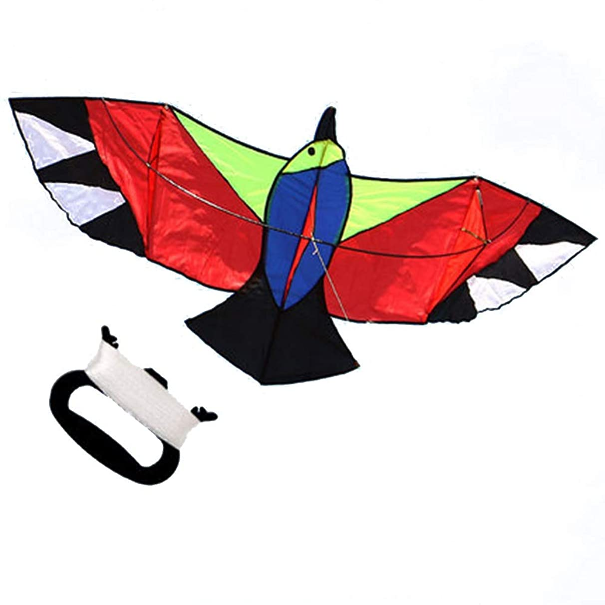 Kite,Flying Spring Toy Front Pole Fly Kite, Resin Rod Kite, with Line Wheel Easy to Fly Kite line Wheel Puller Multi-Style Optional (Color : E)