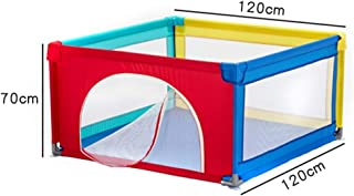 MJY Safety Fence Playpens Kids Activity Centre  Home Indoor Children Fence Play Area  Non-Slip  Anti-Collision 120 120 70cm