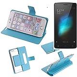 K-S-Trade® Flipcover Für Cubot X12 Schutz Hülle Schutzhülle Flip Cover Handy Case Smartphone Handyhülle Blau
