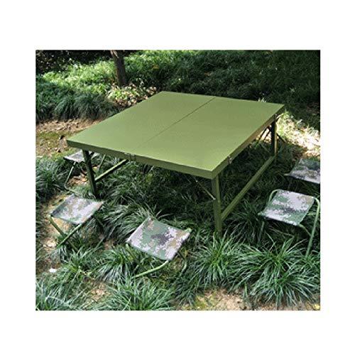 Tisch- und Stuhlset im Freien 8-Personen-Multifunktions-Konferenztisch und -stühle im Freien, Stahl-Picknick-Tisch aus Stahl,...