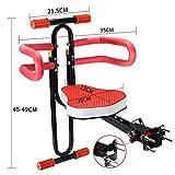 GCT Kindersitz, Abnehmbarer Fahrrad-Vordersitz Kindersitz Universal Fahrradsitz mit Armlehne und Pedal für Herrenfahrrädern und Damenrädern - Schwarz,Schwarz