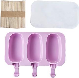 ASDAF 20pcs en Acier Inoxydable Popsicle Moisissures Ice Cream b/âton Holder Silver Home DIY Forme Ice Ice Mold Pop Lolly Popsicles,/États-Unis