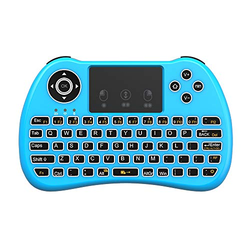 (Upgraded Version) Aerb 2.4GHz Mini Wireless Keyboard with Mouse Touchpad Rechargeable Combos...