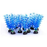 Mogoko 10 Pack Plastic Aquarium Plants, Blue...