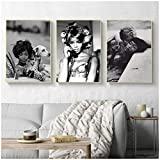 ZQXXX Póster de moda de Naomi Campbell, impresiones artísticas de pared,...