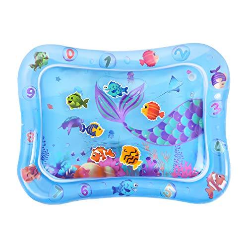 Alfombra de Agua para Bebes - Alfombra Inflable del Agua para Bebé Niñas Niños Recién Nacidos Tummy Time Alfombra de Juego Desarrollo Temprano Juguete para Bebés de 0 a 24 Meses Regalos, 64 x 50cm