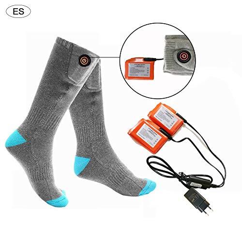 chinejaper verwarmde sokken, 3,7 V, 4400 mAh, verwarmde sokken, skisokken, sneakers, sokken, verwarmde elektrische accu, verwarmde sokken voor wintersport, motorrijden, sneeuw, skiën, voetenwarmers