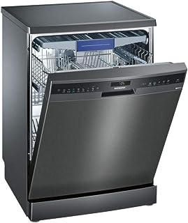 Siemens iQ500 SN258B00ME Independiente 14cubiertos A++ lavavajilla - Lavavajillas (Independiente, Gris, Tamaño completo (60 cm), Negro, Tocar, 1,75 m)