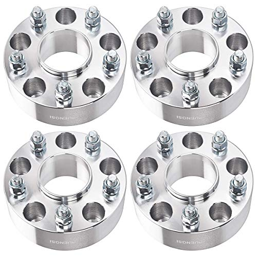 PUENGSI 2 inch Wheel Spacers 5 Lug Hubcentric 5x5 to 5x5 (5x127mm) 71.5mm 4PCS Silver Wheel Spacers...