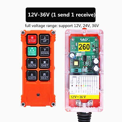 MXBAOHENG 12V-36V - Mando a distancia industrial H21-E1C inalámbrico mando a distancia para grúas transportadoras equipo industrial (12 V-36 V y 1 transmisor)