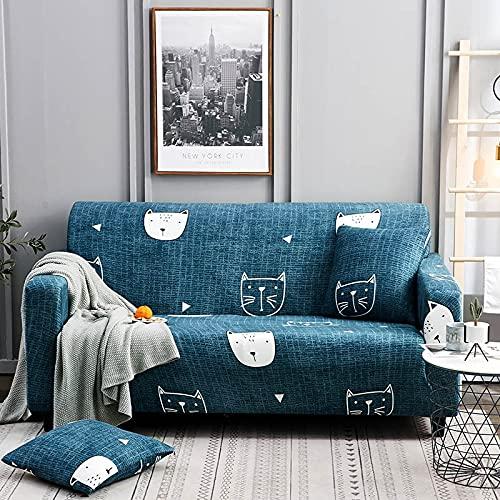 ASCV Elastische Sofabezug für Wohnzimmer Couchbezugbezug Sofa Puff Seat Home Decor Ecksofa Zusammenbau Sofa Schonbezug A20 3-Sitzer