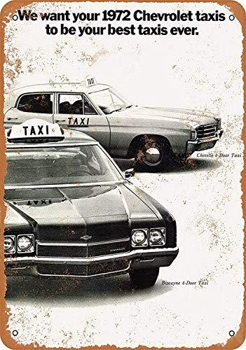 Taxi Cabs Maseratl metalen teken poster wandbord metalen borden vintage waarschuwingsbord retro schilden blikken decoratieve bar Pub Cafe