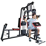 TrainHard® Kraftstation Multistation Fitnessstation inkl. Beinpresse, erweiterbar (optinal): Dipstation, Beinhebe, Sit Up Bank, Stepper, Push Up Bar, Boxsackhalterung, Speedball Plattform. (Kraftstation inkl. Beinpresse)