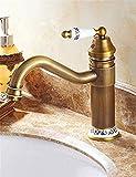 Grifo antiguo Grifo de agua Lavabo Baño Baño Grifo de agua fría y caliente Un orificio
