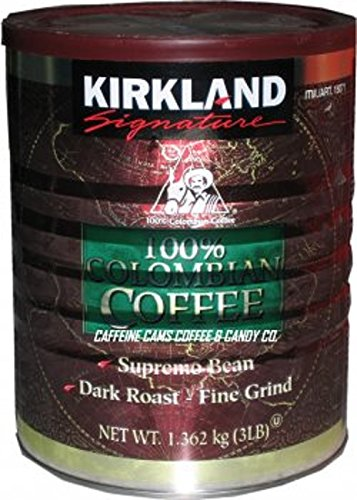 Kirkland Signature 100% Colombian Coffee, 3 Pound (3 LB)