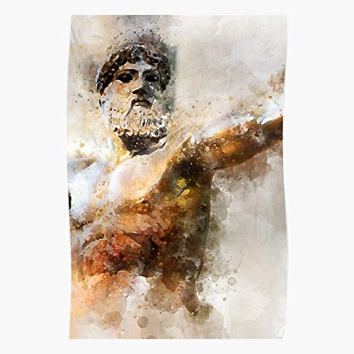 What Abstract Pixel Greek Greece Arts Electronic Mythology Art is Creative Ancient Home Decor Wall Art Print Poster !
