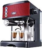 YINGGEXU Cafetera Máquina de café, Espresso café con Leche se produzca Espuma, la selección Directa Botones perillas, 2-Copa-función, Grande 1,7 litros del Tanque de Agua Diseño ergonómico
