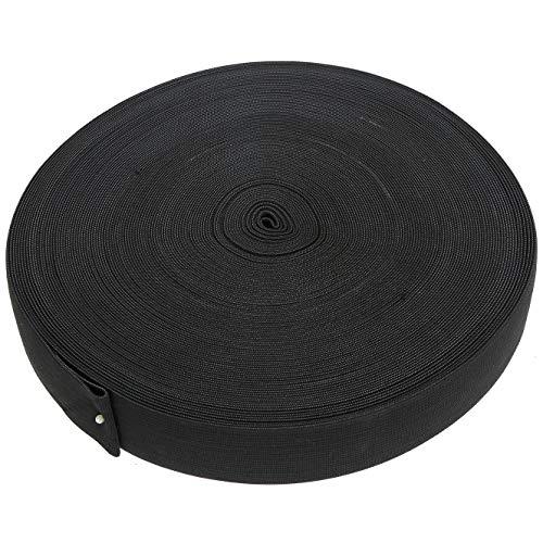 Foraineam 1.5 Inch x 44 Yard Black Elastic Spool High Elasticity Heavy Stretch Knitting Sewing Elastic Bands