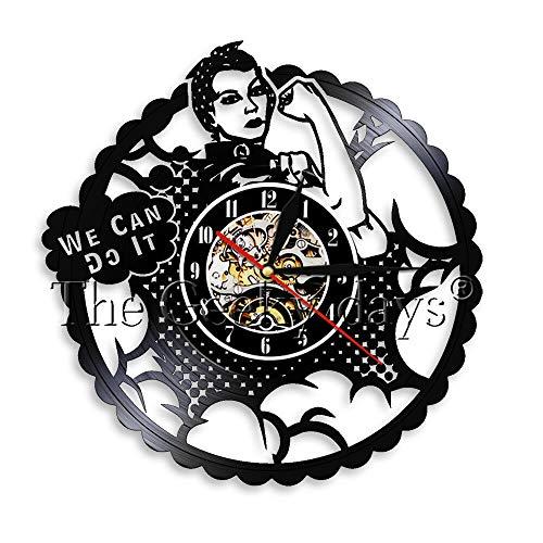 fdgdfgd Classic CD Record The Winner We Can Do Reloj de Pared con Disco de Vinilo Retro   Decoración del hogar de Elementos de Moda