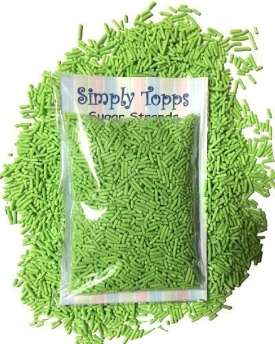 Green Sugar Strands Cake Sprinkles 30g for Cake or Cupcake Decorations
