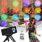 Lámpara de proyección de puesta del sol, 16 colores, luz arco iris, carga USB, luces de noche con mando a distancia y modo de música para niños, niñas, adultos, dormitorio, fiesta de fotografía