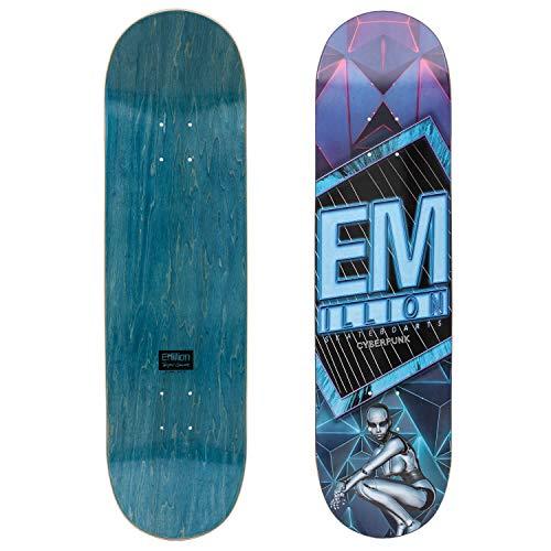 Emillion Skateboard Deck Cyberpunk 8.125 x 31.5 - Hochwertiges Skateboard inkl. Griptape