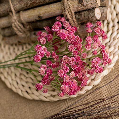 Kleine kunstmatige Daisy Camellia Pu zachte lijm bloemen Plastic Flower Party Home Decor bruiloft accessoires Mini Fake Flower Gift, rose rood