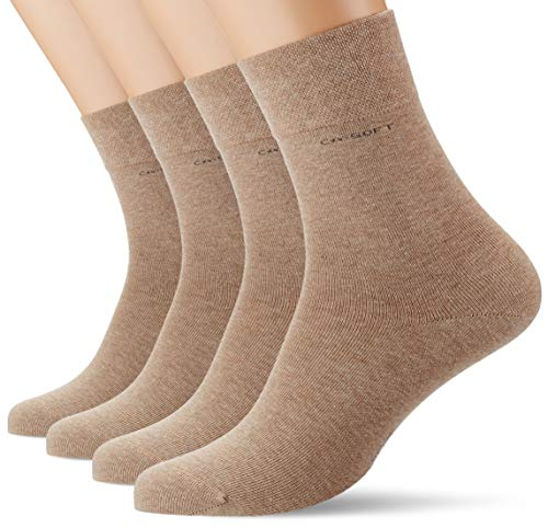 Camano Herren 3642000 Socken, Beige (Sand Melange 8300), (Herstellergröße: 39/42) (4er Pack)