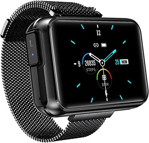 MXCHEN 2021 TWS Inalámbrico Bluetooth Auriculares Smart Watch T91 Llamada Bluetooth de 1.4 Pulgadas Big DIY Screen Weather Smartwatch para Android iOS